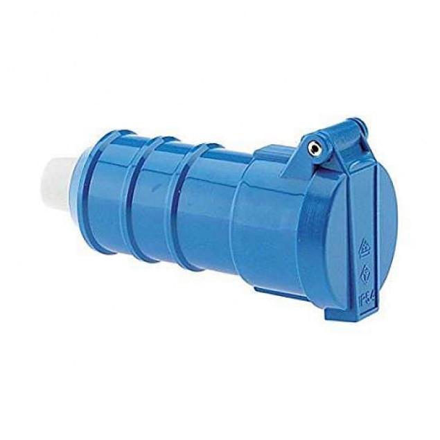 Розетка кабельна SCHUKO IP54 синя