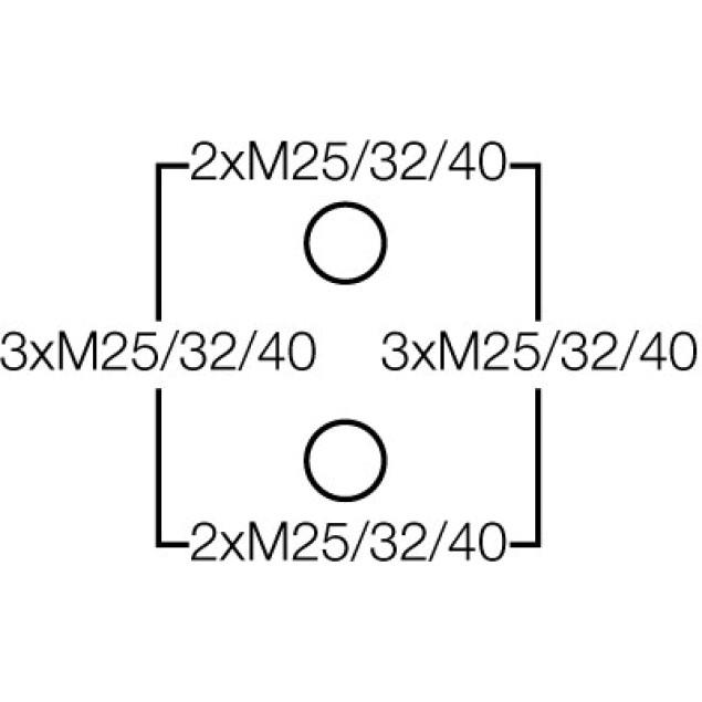 Ответвительная коробка, серая, IP 66 с вводами  EDK/AKM, с 5 полюсной клеммой, 16 mm2, Cu