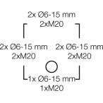 Ответвительная коробка, серая, IP 66, с мембранами, с 5 полюсной клеммой, 2,5 mm2, Cu