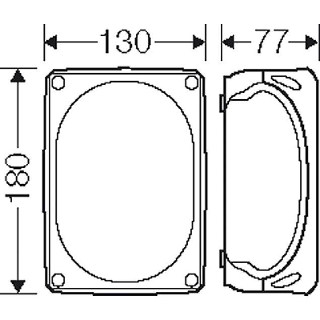 Ответвительная коробка, серая, IP 66, с мембранами, 180x130x77mm, без клеммы