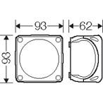 Ответвительная коробка, серая, IP 66, мембранами, 93x93x62mm, без клеммы