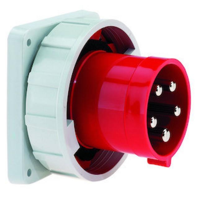 Штекер панельний прямий (110x106) 63A5P400V IP67