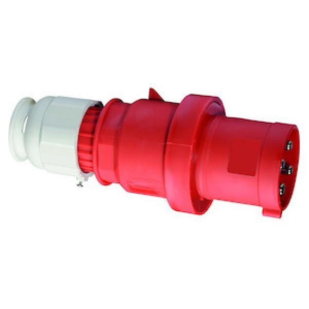Штекер кабельный прямой 63A 4P 400V IP44