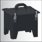 Корпус пустий гумовий з ручкою 250х210х239(ШхГхВ) з чорною кришкою