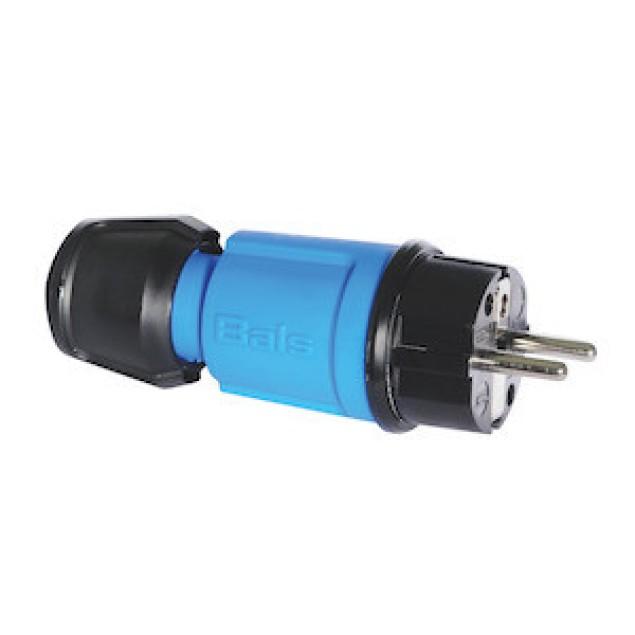 "Вилка кабельная, синяя , IP44 ,типа ""Schuko"". 16А"