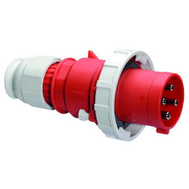 Штекер кабельный прямой 63A 4P 400V IP67