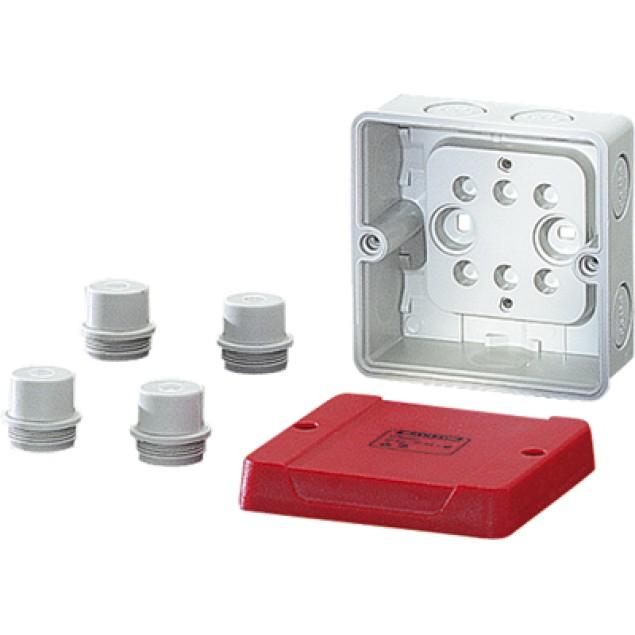 Ответвительная коробка 88x88x53 мм., для цепей аварийного освещения