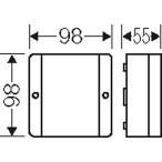 Ответвительная коробка IP55, 98x98x52 мм., с клемой 5х4 кв.мм.