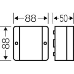 Ответвительная коробка выравнивания потенциалов ІР54, 88х88х49 мм.