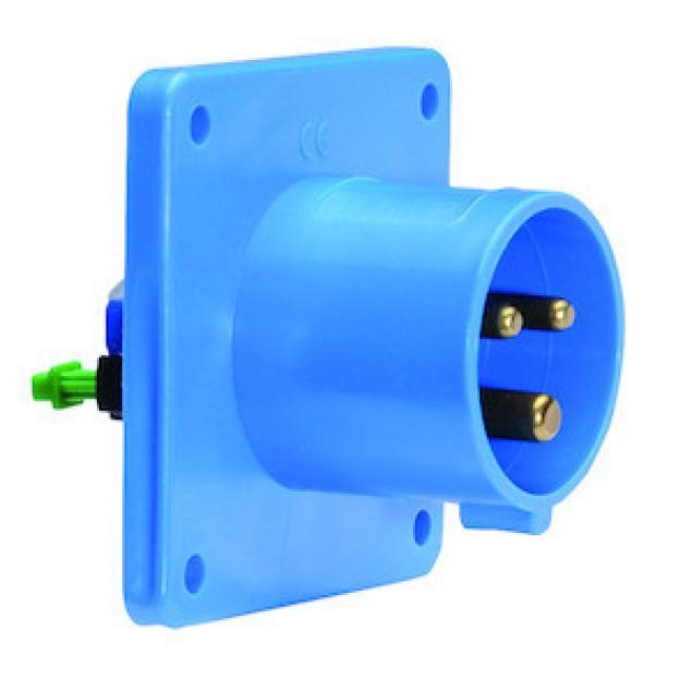 Штекер панельний прямий (75x75) 32А 3 Р230V IP44