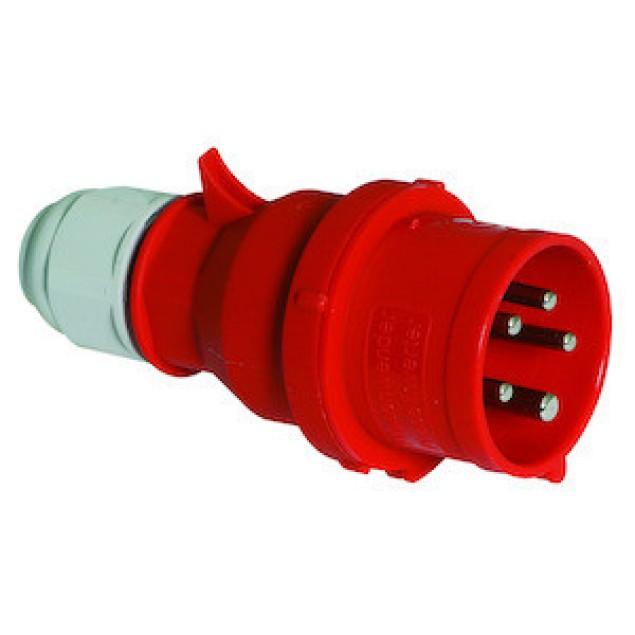 Штекер фазоповоротний 32А5Р400V 6H MU-GRIP IP44