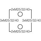 Ответвительная коробка, серая, IP 66, с мембранами, с 5 полюсной клеммой, 10 mm2, Cu